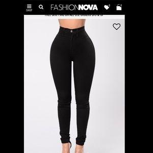 Fashion Nova High Waisted Black Jeans